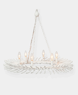 The Bruna Chandelier by Made Goods, available in the lighting shop at delicious designs home in hingham, massachusetts.